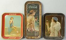 Lot of 3: Coca-Cola Serving Trays.