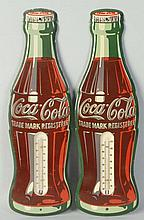 2 Coke Bottle Thermometers.