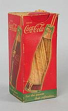 1940s Coca-Cola Straw Box.
