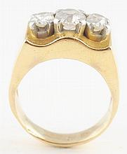 14K Yellow Gold Diamond Ring.
