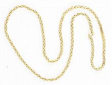 14K YG Heavy Fish Net Necklace.