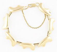 18K YG Bear Bracelet.
