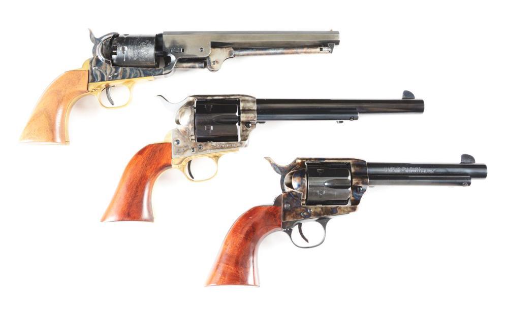 M) Lot of 3: Pietta SAA, Army San Paolo 1851 Navy & Uberti
