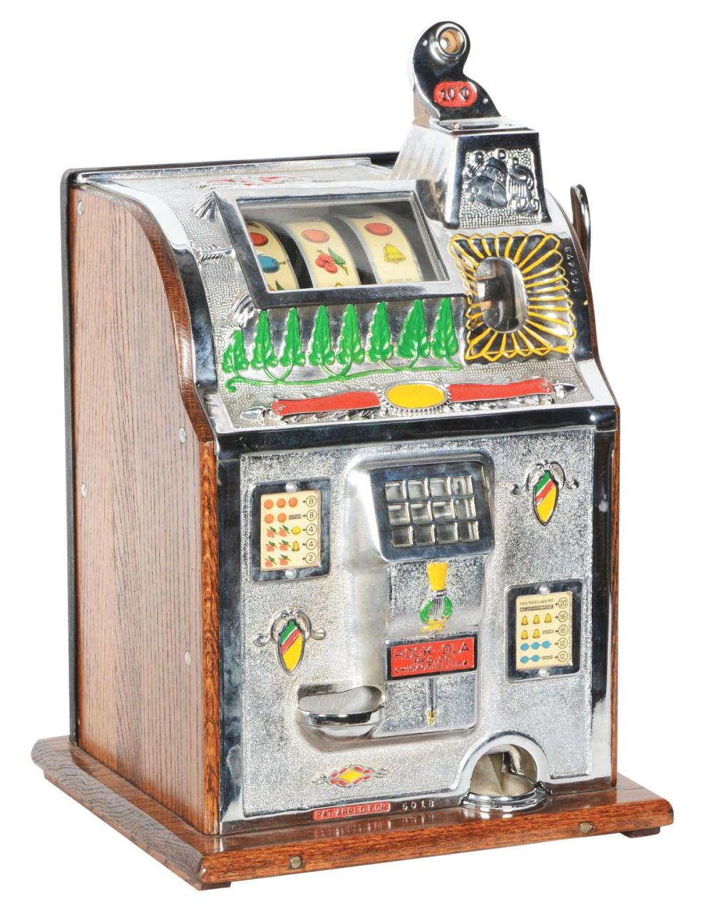 10¢ MILLS ROCK-OLA JACKPOT SLOT MACHINE.