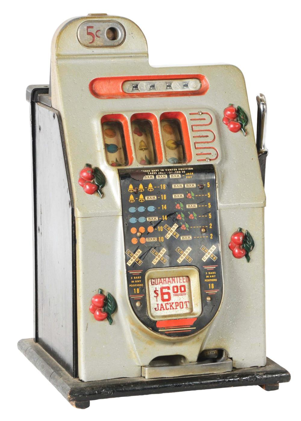 5¢ MILLS NOVELTY CO. BLACK CHERRIE SLOT MACHINE.