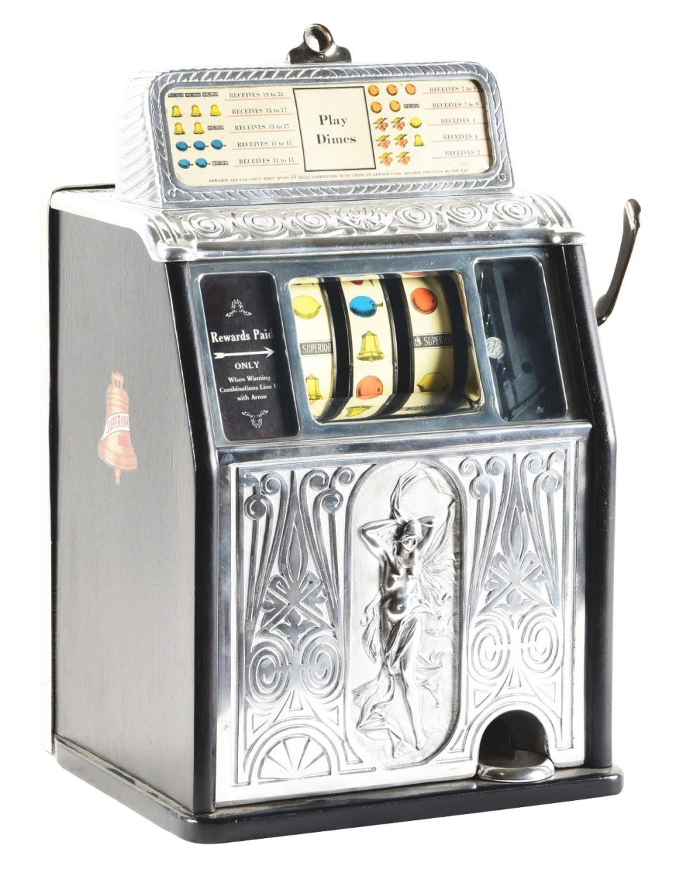 10¢ CAILLE NAKED LADY SUPERIOR SLOT MACHINE.