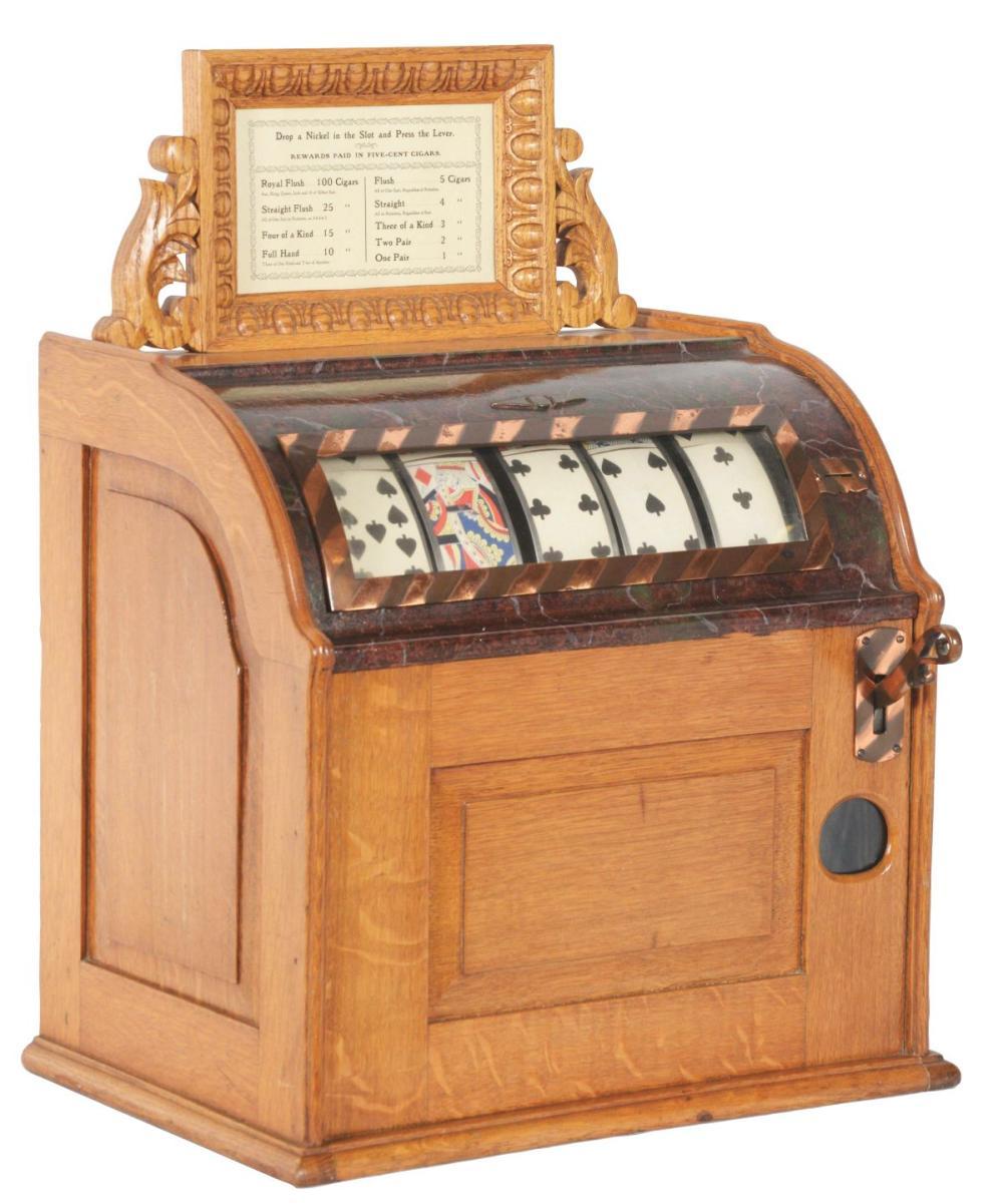 5¢ LEO CANDA COUNTER JUMBO CARD MACHINE TRADE STIMULATOR.