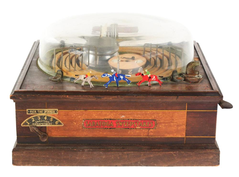 SARATOGA SWEEPSTAKES COIN-OP HORSE RACE.