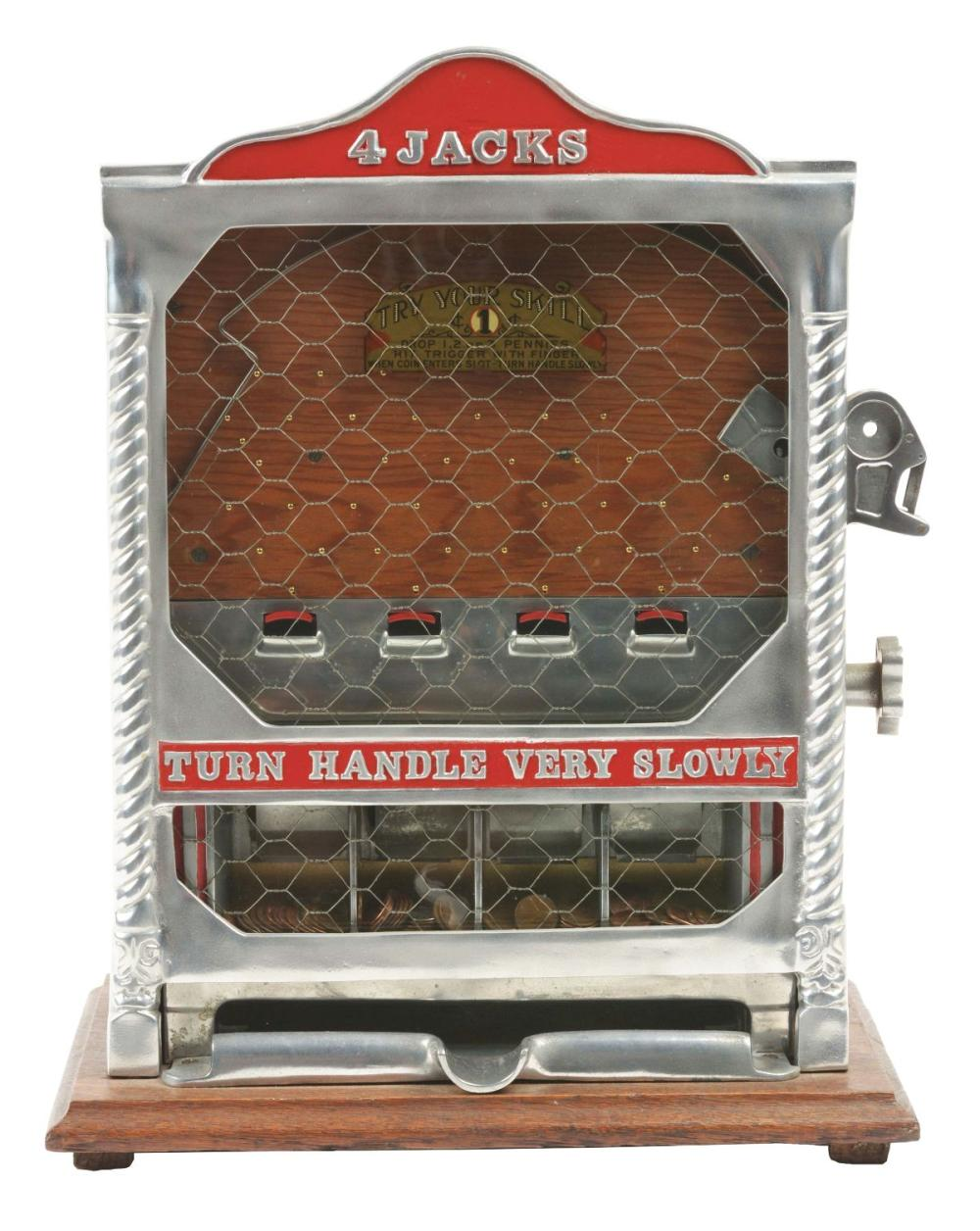 1¢ FIELDS JACKS COUNTER POCKET TRADE STIMULATOR.