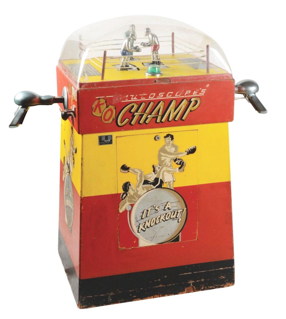 5¢ MUTOSCOPE K.O. CHAMP BOXING ARCADE GAME.