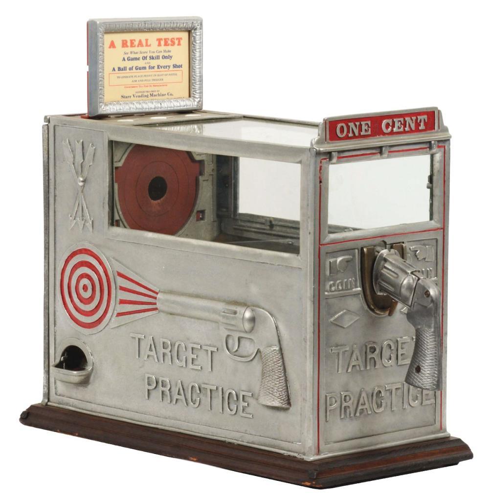 1¢ STAR VENDING MACHINE CO. TARGET PRACTICE.