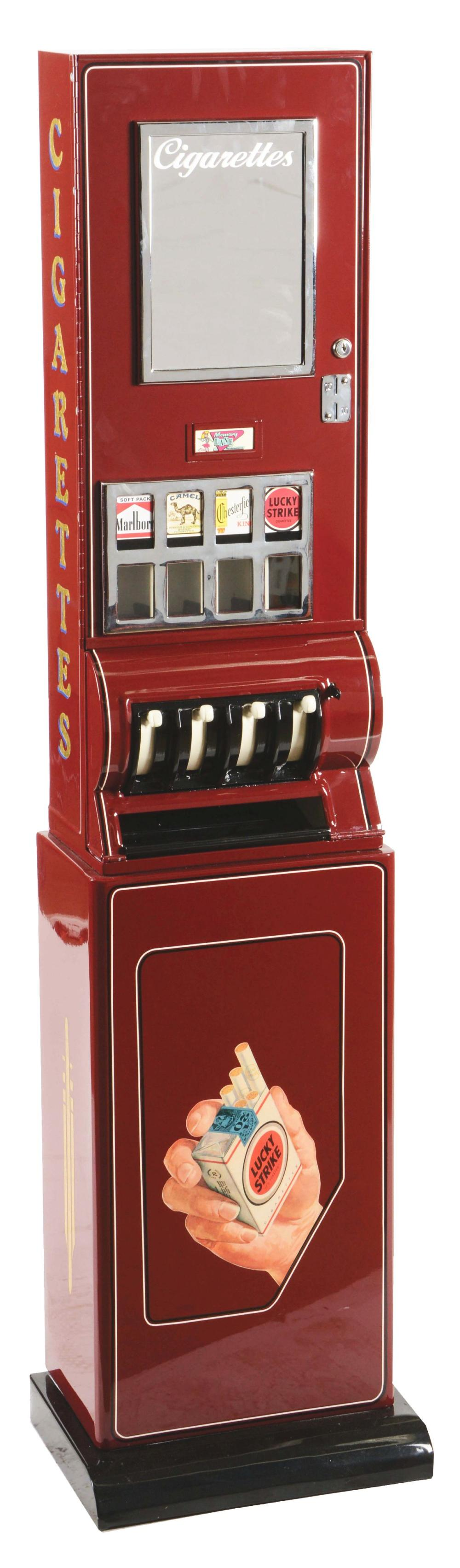 10¢ MEMORY LANE CIGARETTE VENDING MACHINE.