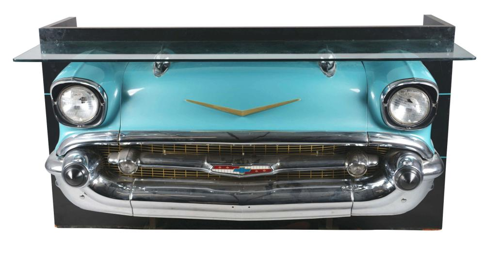 '57 CHEVY BEL AIR CUSTOM GLASS TOP BAR.