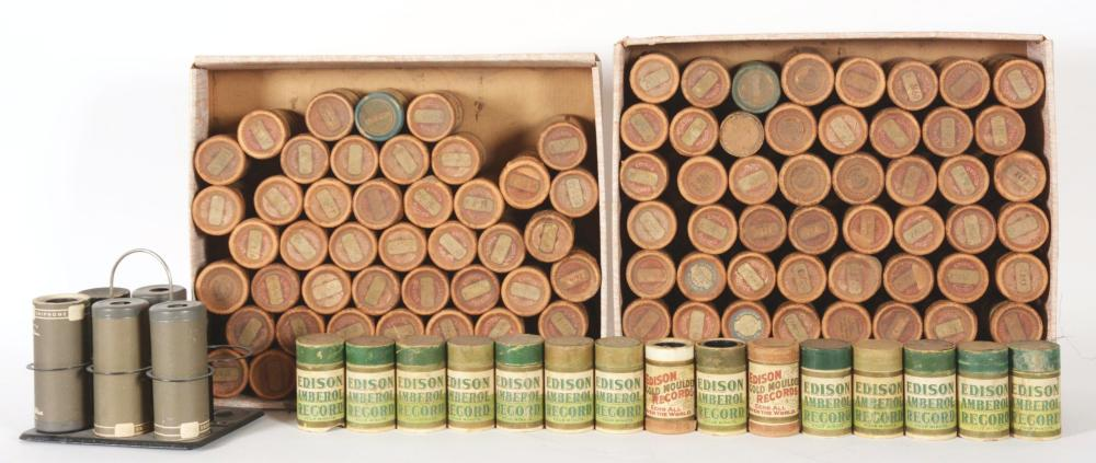 LOT OF OVER 80 CYLINDERS FOR EDISON CYLINDER PLAYER.