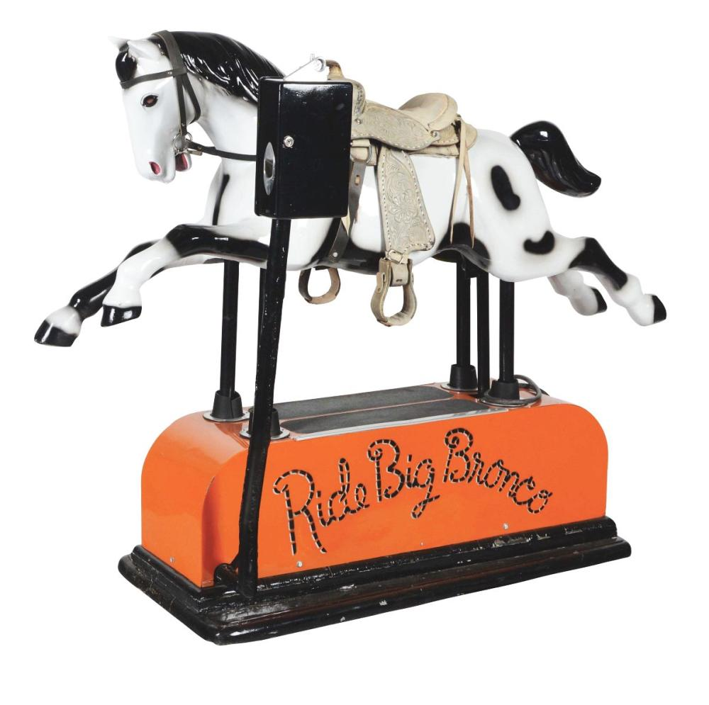 "5¢ ""RIDE BIG BRONCO"" HORSE KIDDIE RIDE."