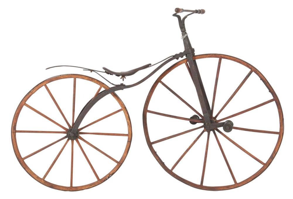 ABSOLUTELY SUPER BONE SHAKER CAST-IRON BICYCLE.