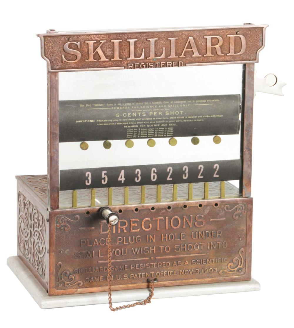 5¢ SKILLIARD COIN-FLIP SKILL GAME.