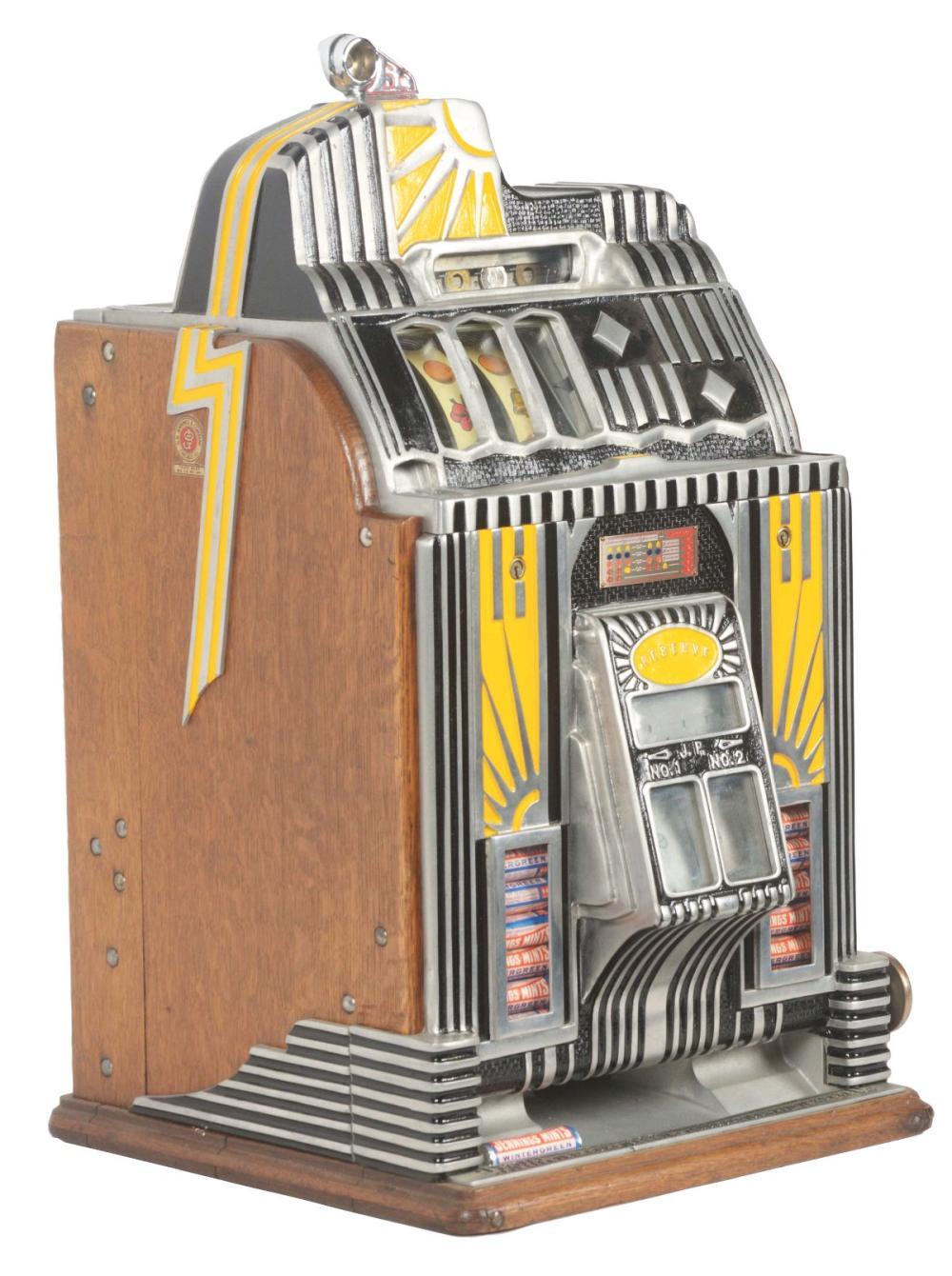 JENNINGS 5¢ CENTURY VENDOR SLOT MACHINE.