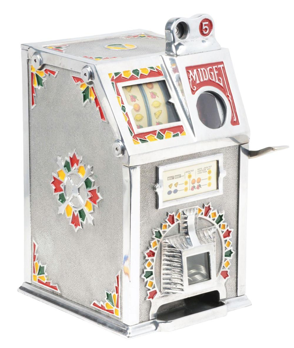 5¢ VENDET MIDGET SLOT MACHINE.