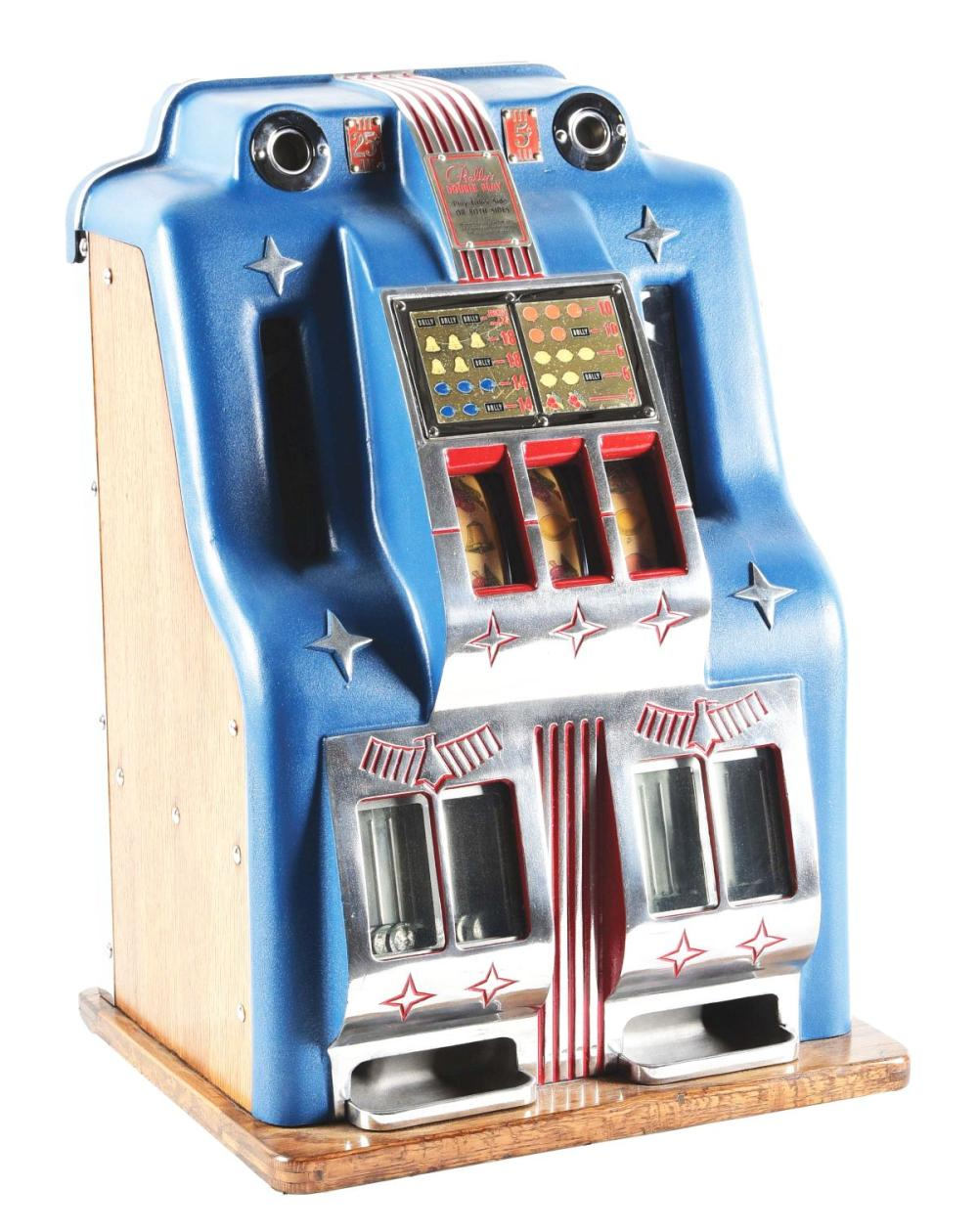 25¢ & 5¢ BALLYS DOUBLE BELL SLOT MACHINE.