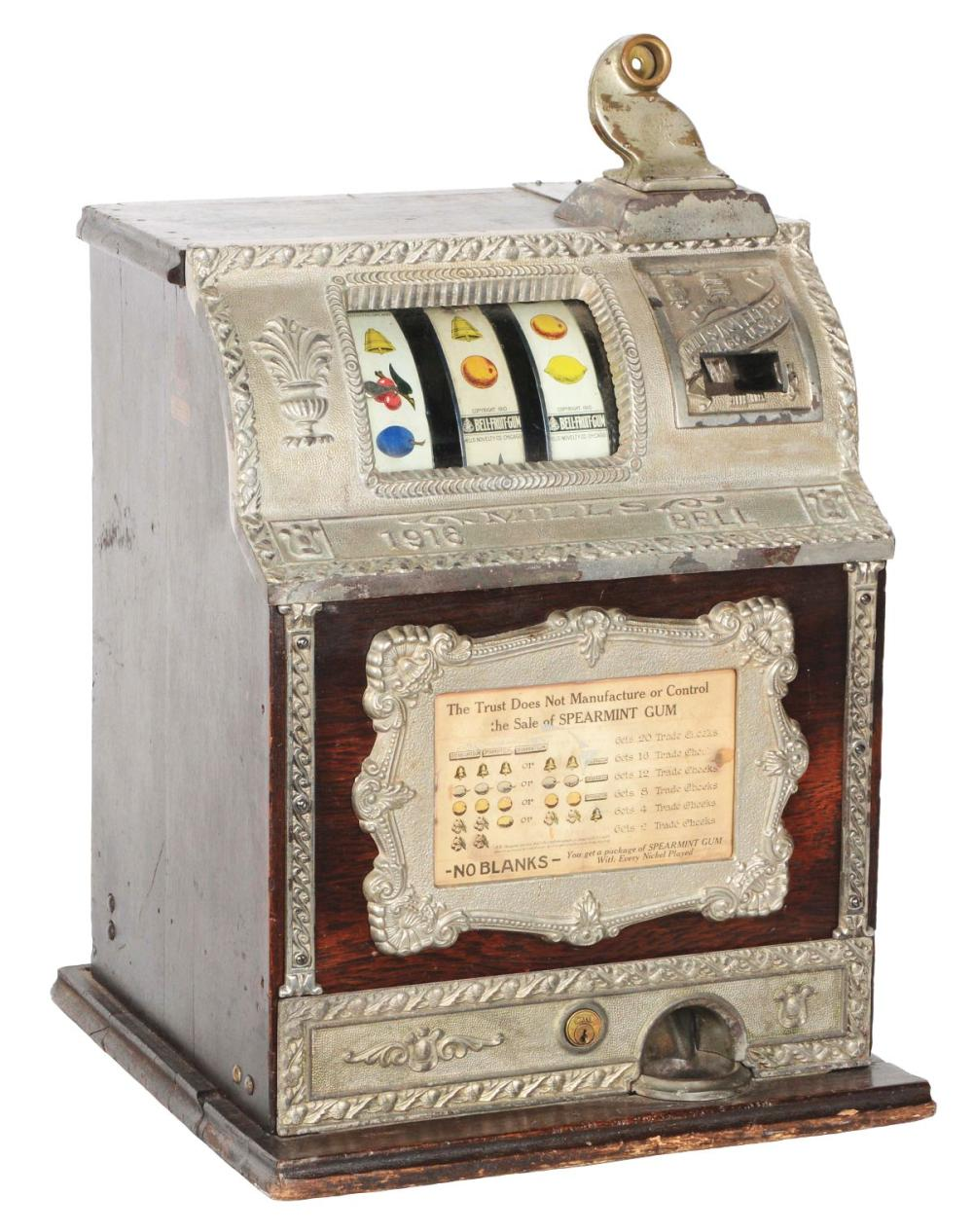MILLS NOVELTY CO. 1916 BELL SLOT MACHINE.