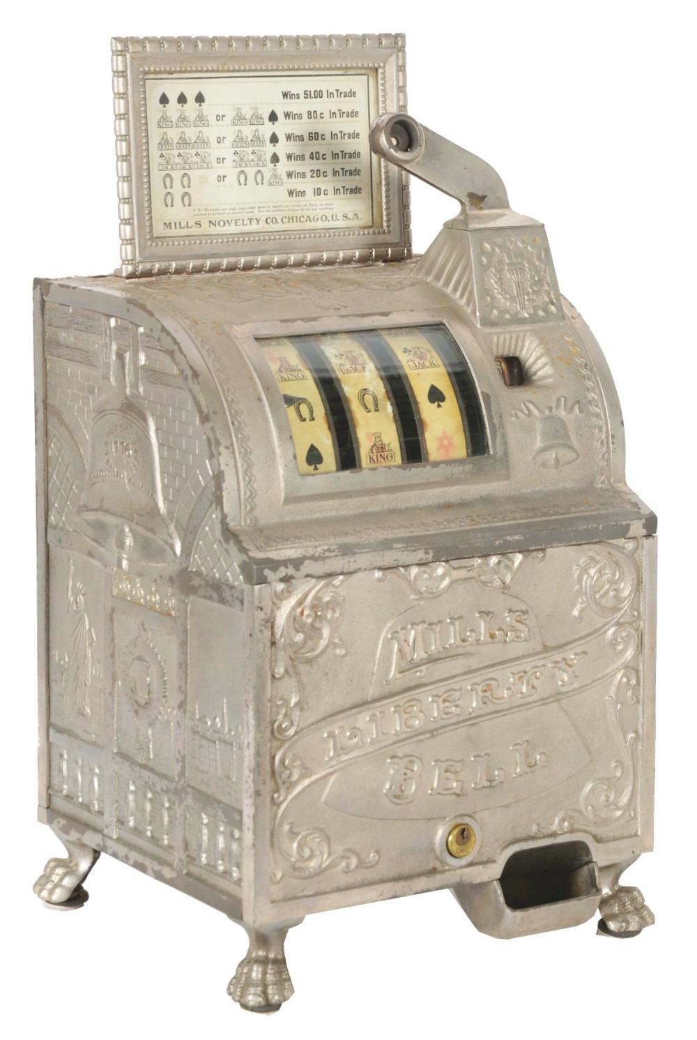 5¢ MILLS LIBERTY BELL SLOT MACHINE.