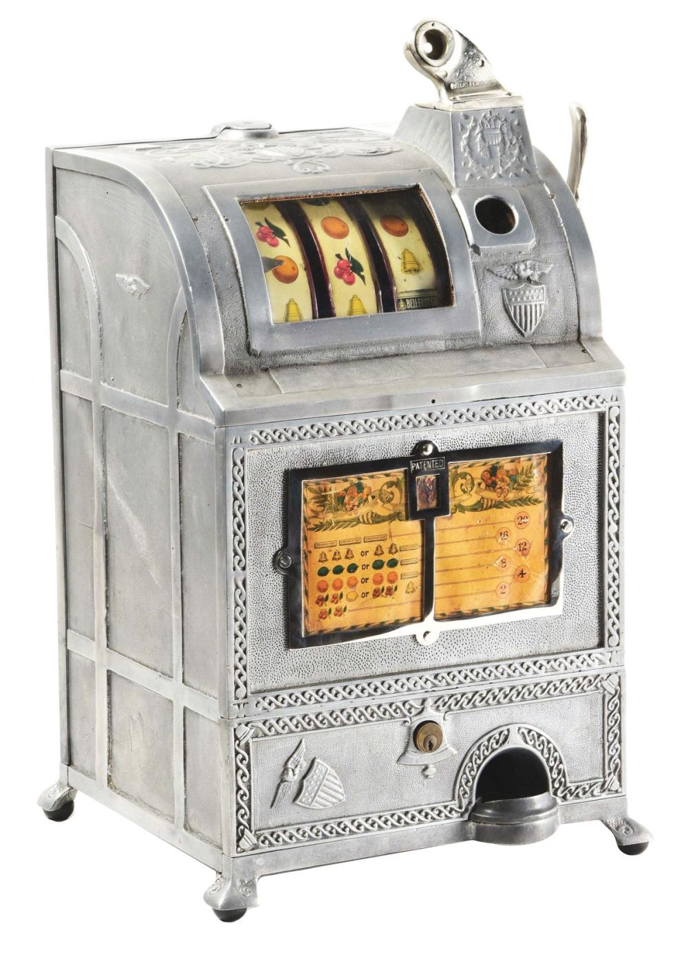 5¢ BURNHAM GUM WORKS SLOT MACHINE.