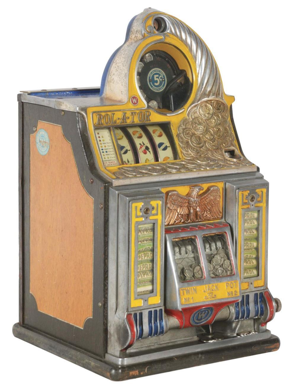 5¢ WATLING ROL-A-TOR SLOT MACHINE.