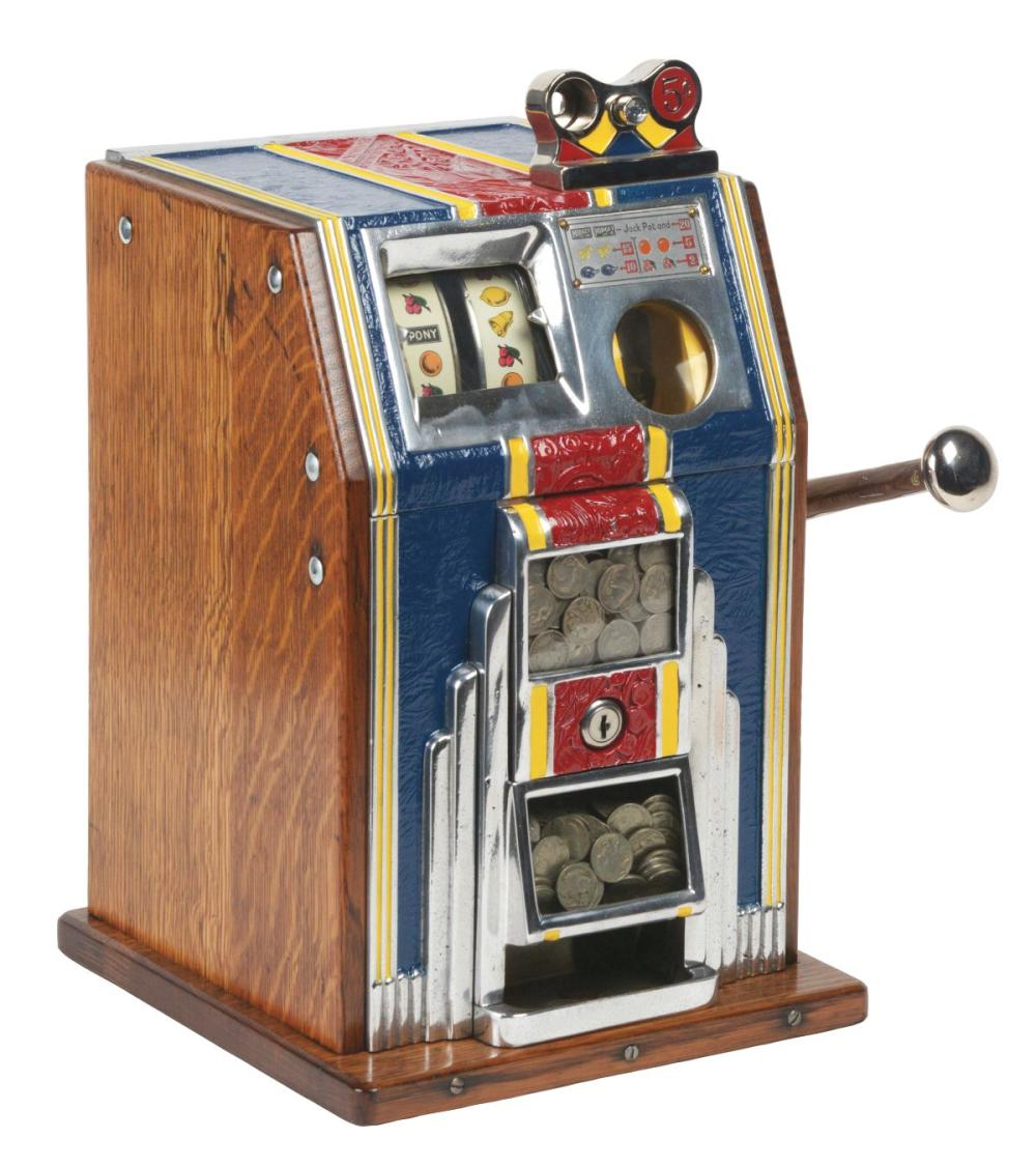 5¢ BURTMIER MFG. CO. PONY SLOT MACHINE.