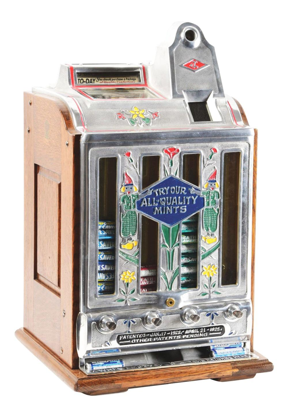 5¢ JENNINGS TODAY VENDOR SLOT MACHINE.
