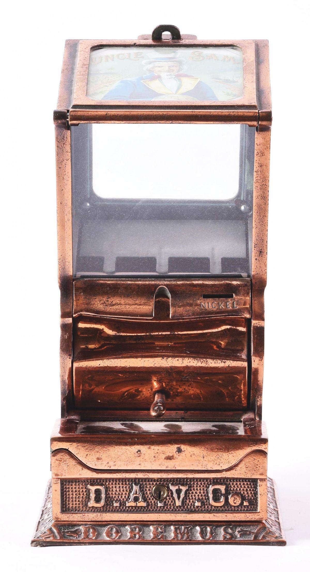 5¢ DOREMUS CAST IRON CIGAR VENDER.