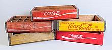 Lot of 5: Assorted Coca-Cola Crates.