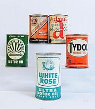 Lot of 5: Oil Cans.