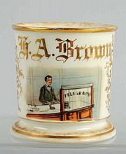 Telegraph Shaving Mug.