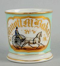 Sulky Driver and Horse Shaving Mug.