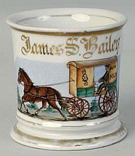 Horse Drawn Milk Cart Shaving Mug.