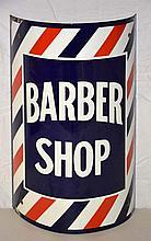 Barber Shop Porcelain Sign.