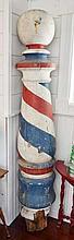 Wooden Barber Pole.