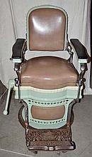 Koken Sea Foam Green Barber Chair.