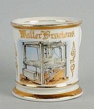 Mechanical Press Shaving Mug.