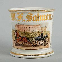 Horse-Drawn Carriage Shaving Mug.