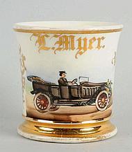 Open Air Automobile Shaving Mug.