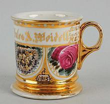 Jules Weidell Floral Shaving Mug.