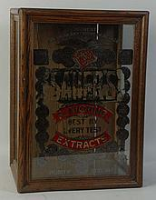 Early Sauers Flavoring Extract Display Case.