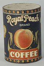 Royal Peach Coffee Tin.