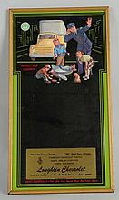 1940s Loughlin Chevrolet Advertising Mirror.