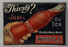 Tin Whistle Soda Advertising Sign.