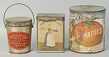 3 Product Tins.