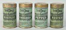 Lot of 4: Great American Spice Tins.