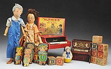 Lot of Schoenhut Toys.